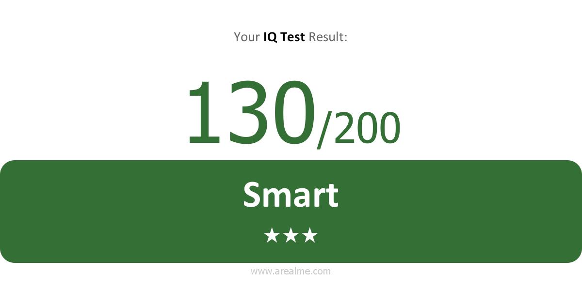 Iq 130 test