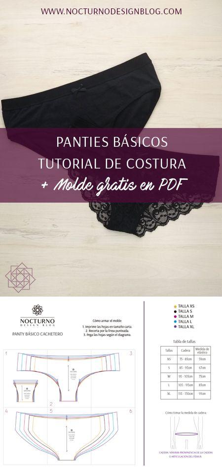 Costura fácil: Panties básicos + molde gratis.