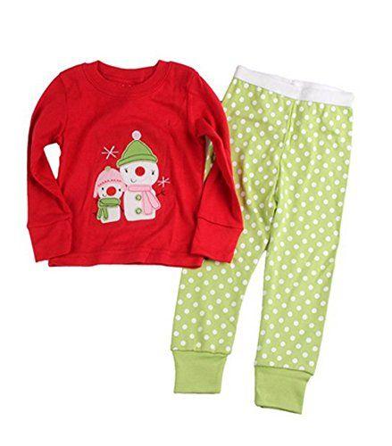 Sojamas Cotton Snowman Little Kids Christmas Cute Girls Boys Pajamas