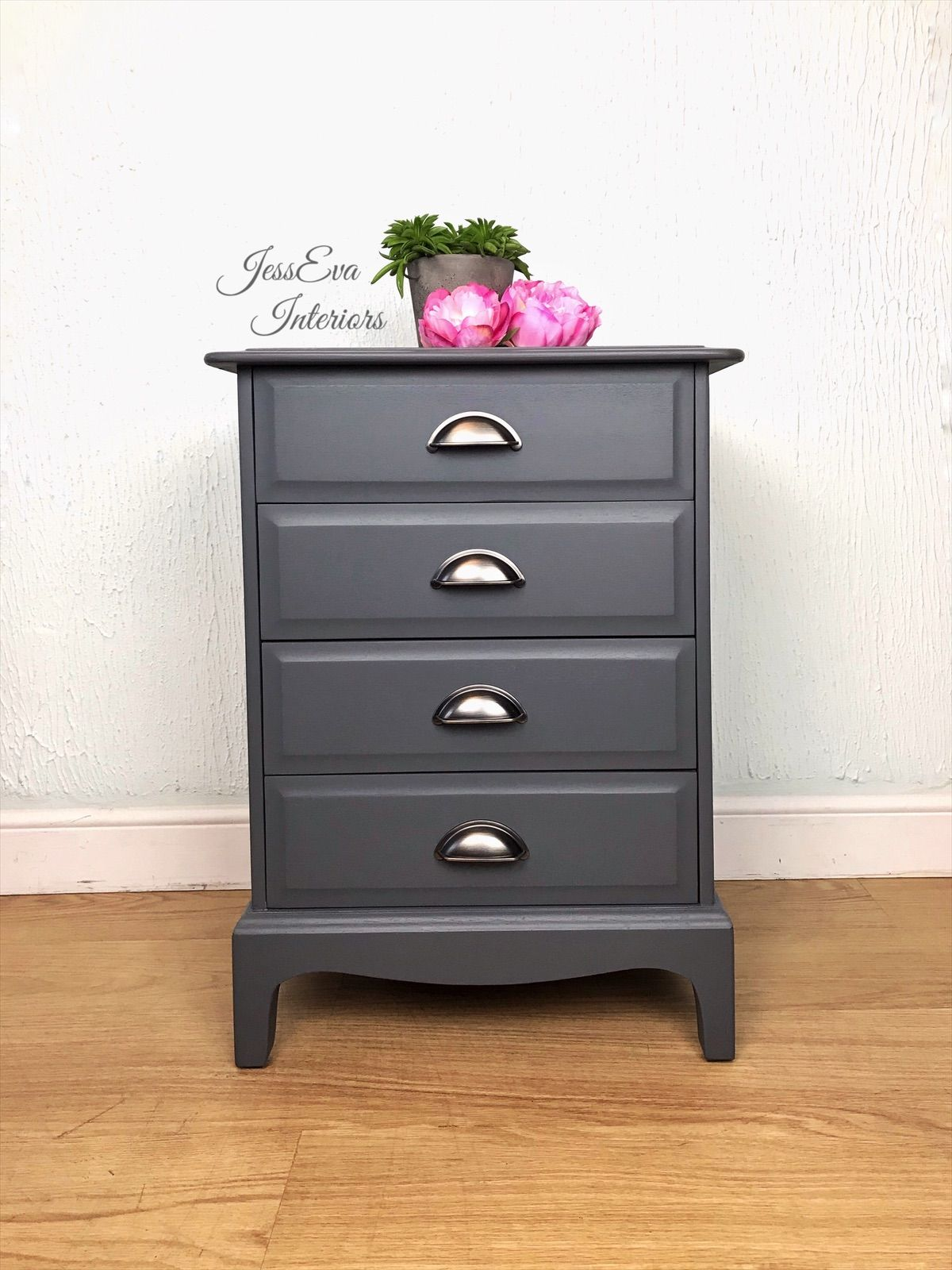 Stag Bedside Table Painted In Fusion Soapstone Stag Bedside Table Painted Table Blue Chest Of Drawers