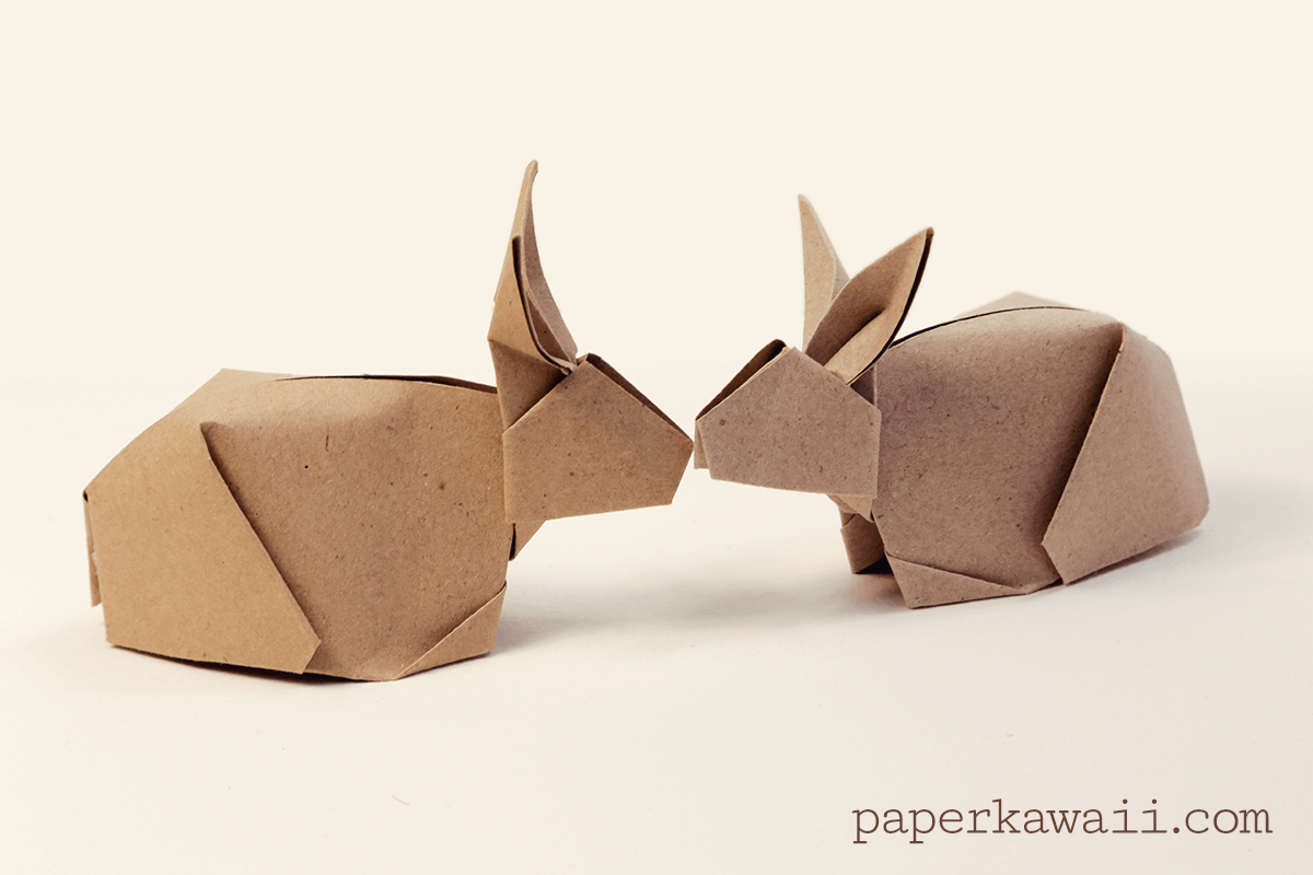 Easy Origami Bunny - Red Ted Art - Make crafting with kids easy & fun   800x1200