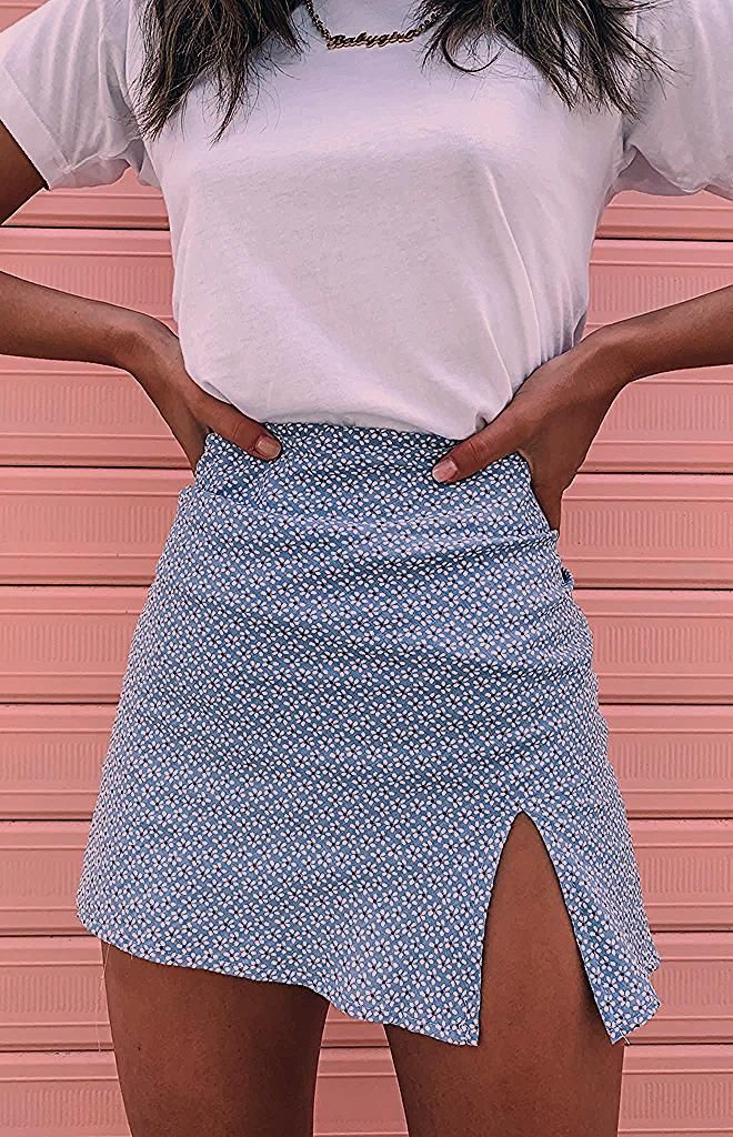 Photo of Laura Skirt Blue Floral
