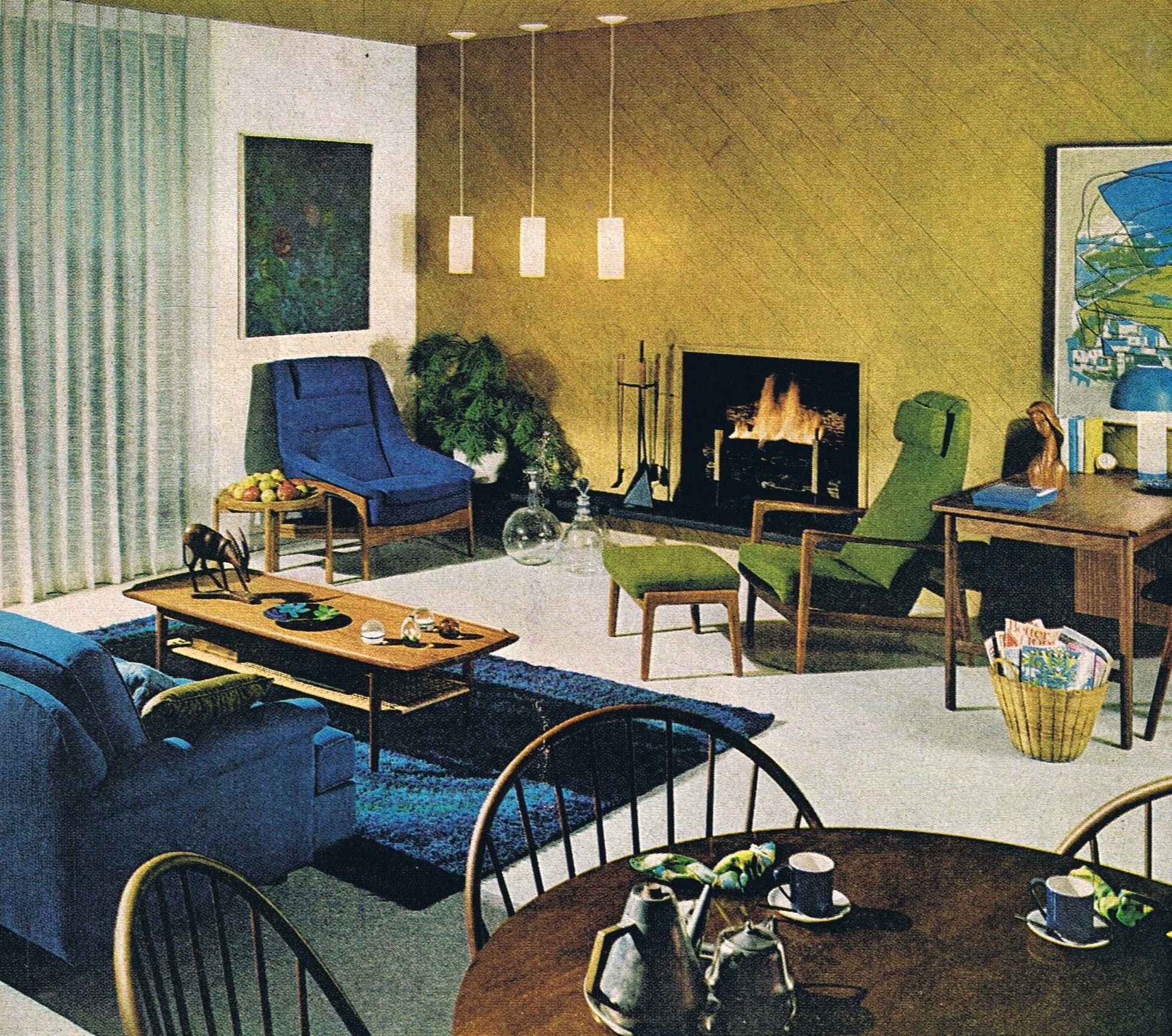 Scandinavian Style Better Homes And Gardens 1967 Mid Century Modern Interiors Mid Century Modern House Mid Century Decor