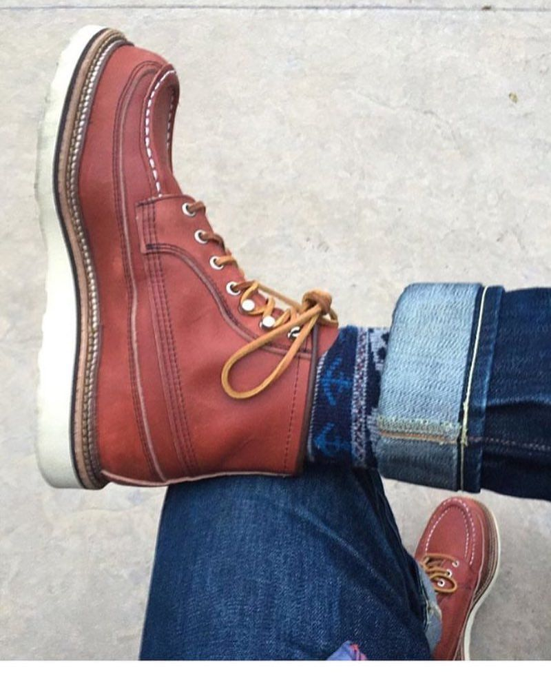 Pin by Charles Tan on Red Wings Look   Mens lace up boots