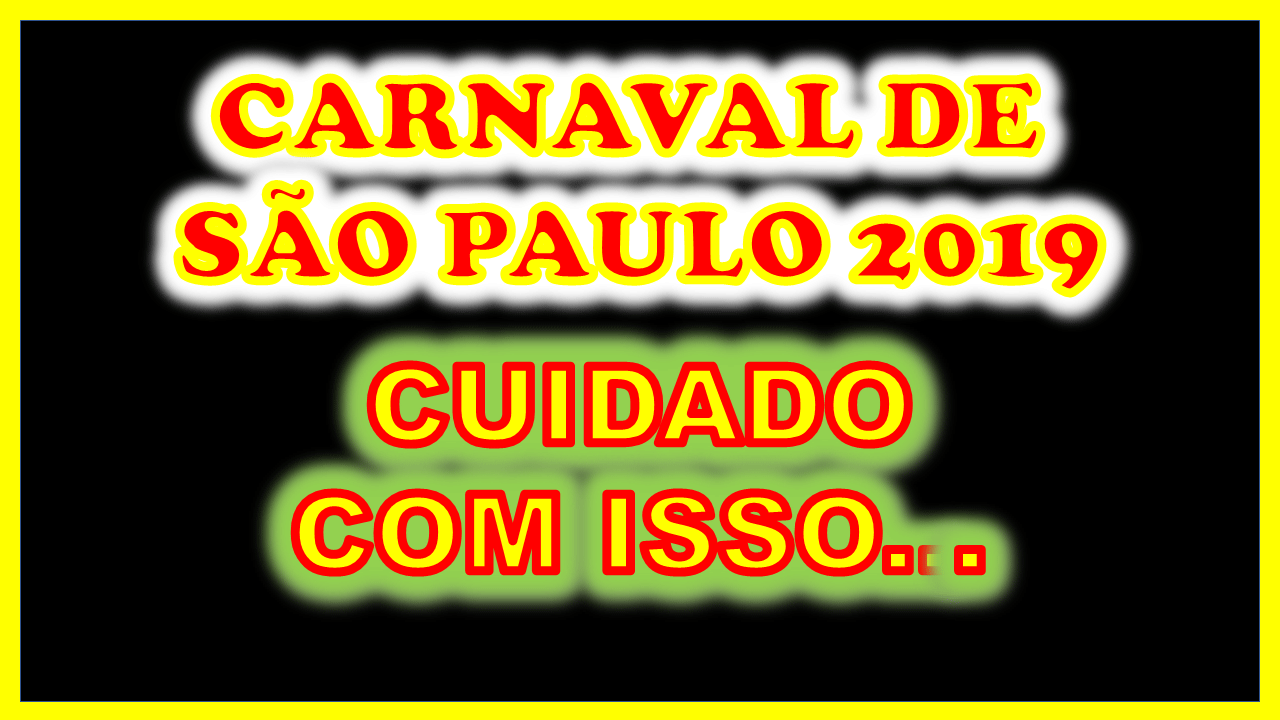 Diretor De Carnaval Deixa Tradicional Escola De Sp: O Carnaval De São Paulo Nesse Ano De 2019 Vem Demonstrando