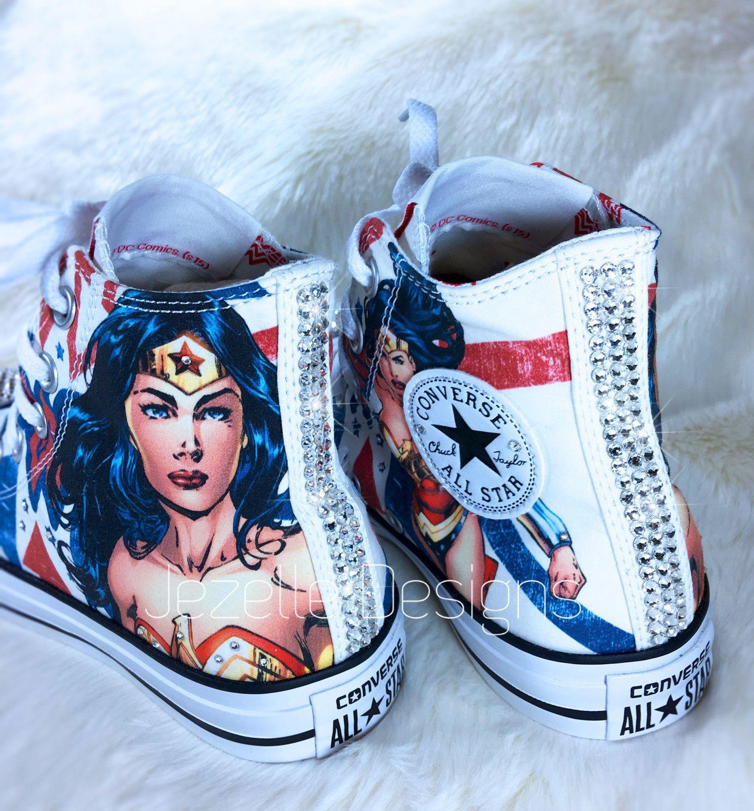 7b0a128227387c Wonder Woman Converse w  Swarovski Crystals