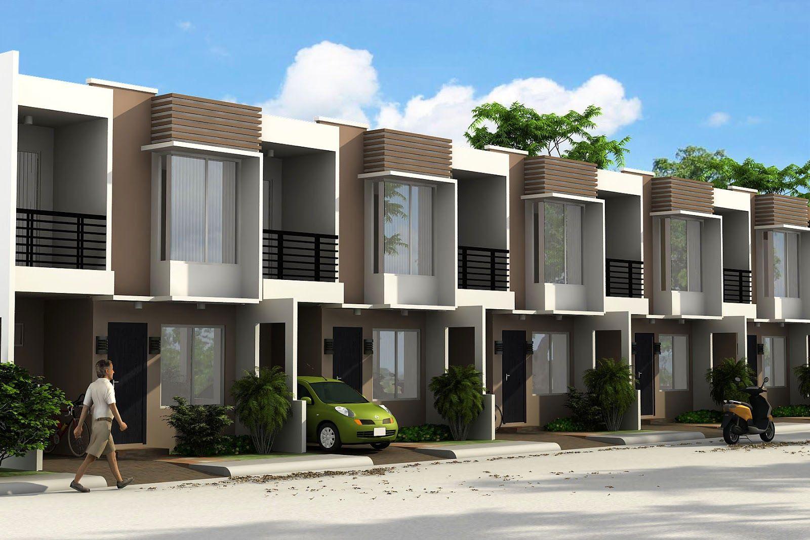 Row House Exterior Design Philippines In 2020 Townhouse Exterior Townhouse Designs Row House Design