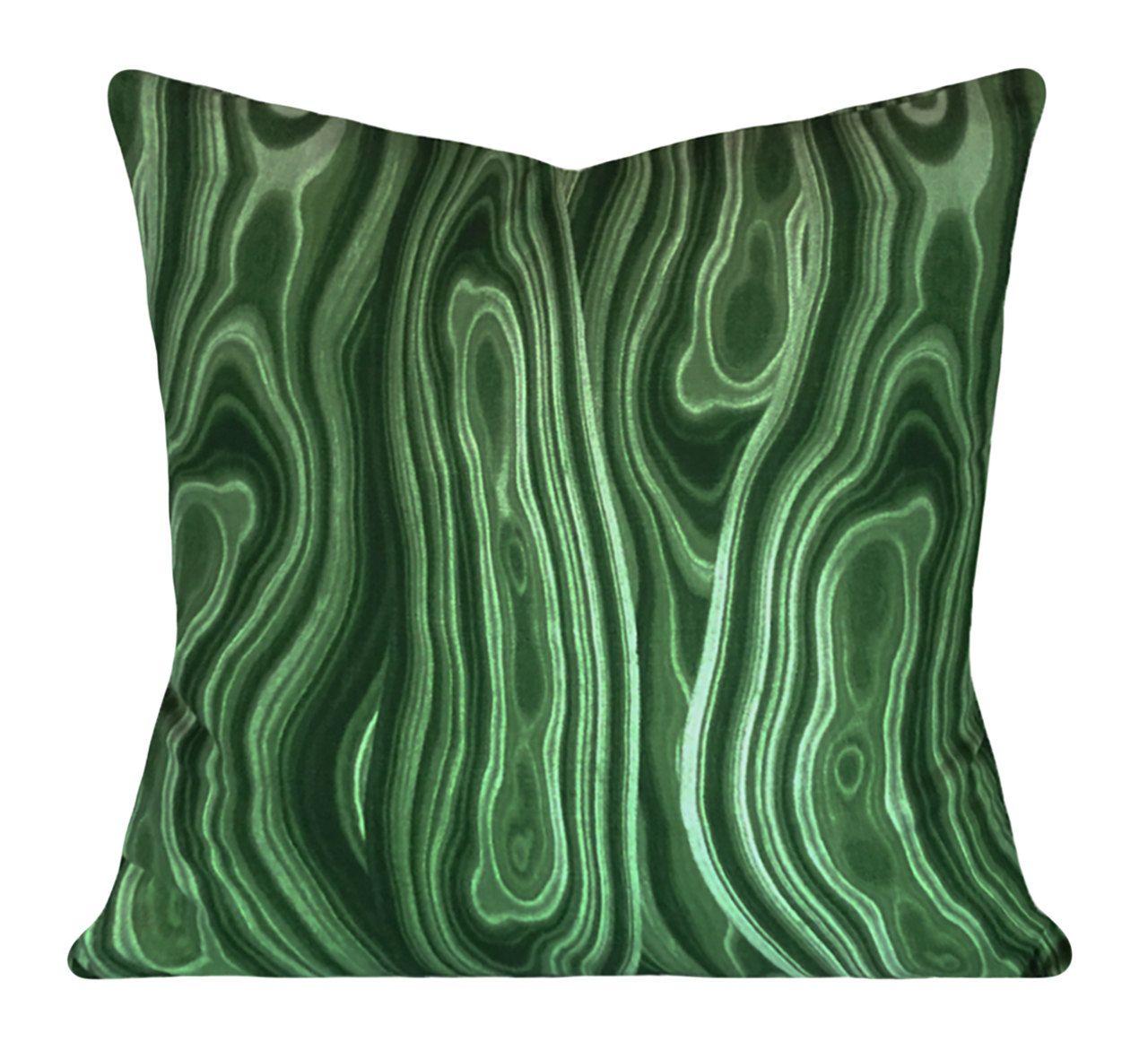 Robert allen emerald green decorative pillow cover both sides