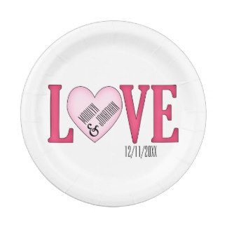 LOVE Wedding Personalized Paper Plates 7 Inch Paper Plate  sc 1 st  Pinterest & LOVE Wedding Personalized Paper Plates 7 Inch Paper Plate | Bridal ...
