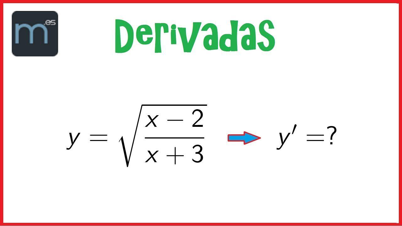 Derivada - Raíz de un cociente de polinomios, regla de la cadena ...