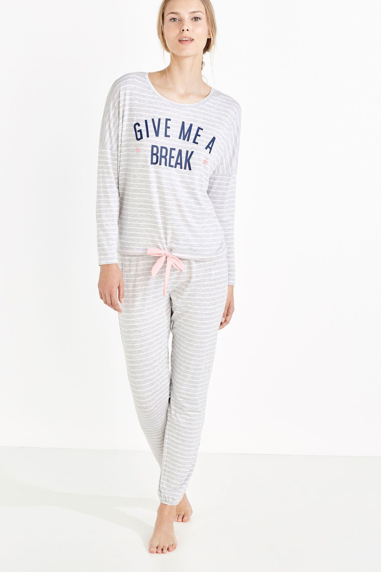 63946e6fca Long stripped pyjama