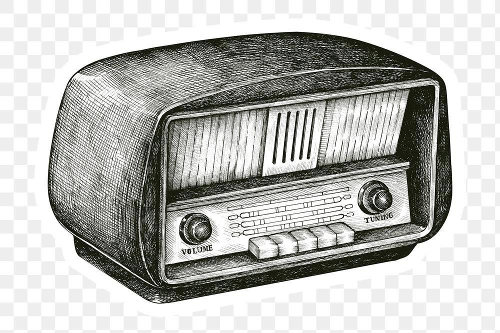 Hand Drawn Retro Wooden Radio Sticker Design Element Free Image By Rawpixel Com Hein Radio Drawing How To Draw Hands Cartoon Network Art