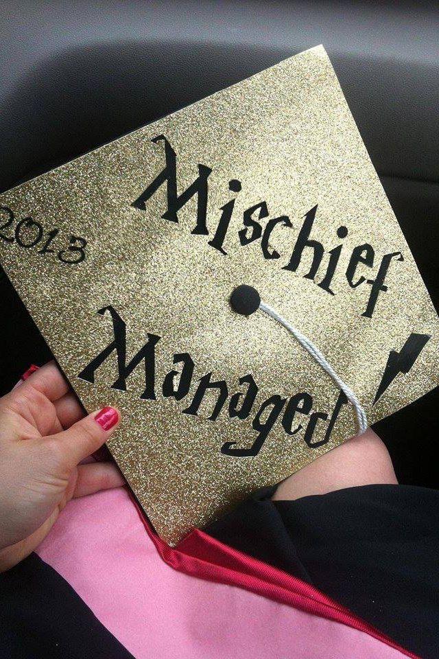Senior Year Harry Potter Graduation Harry Potter Graduation Cap Mischief Managed
