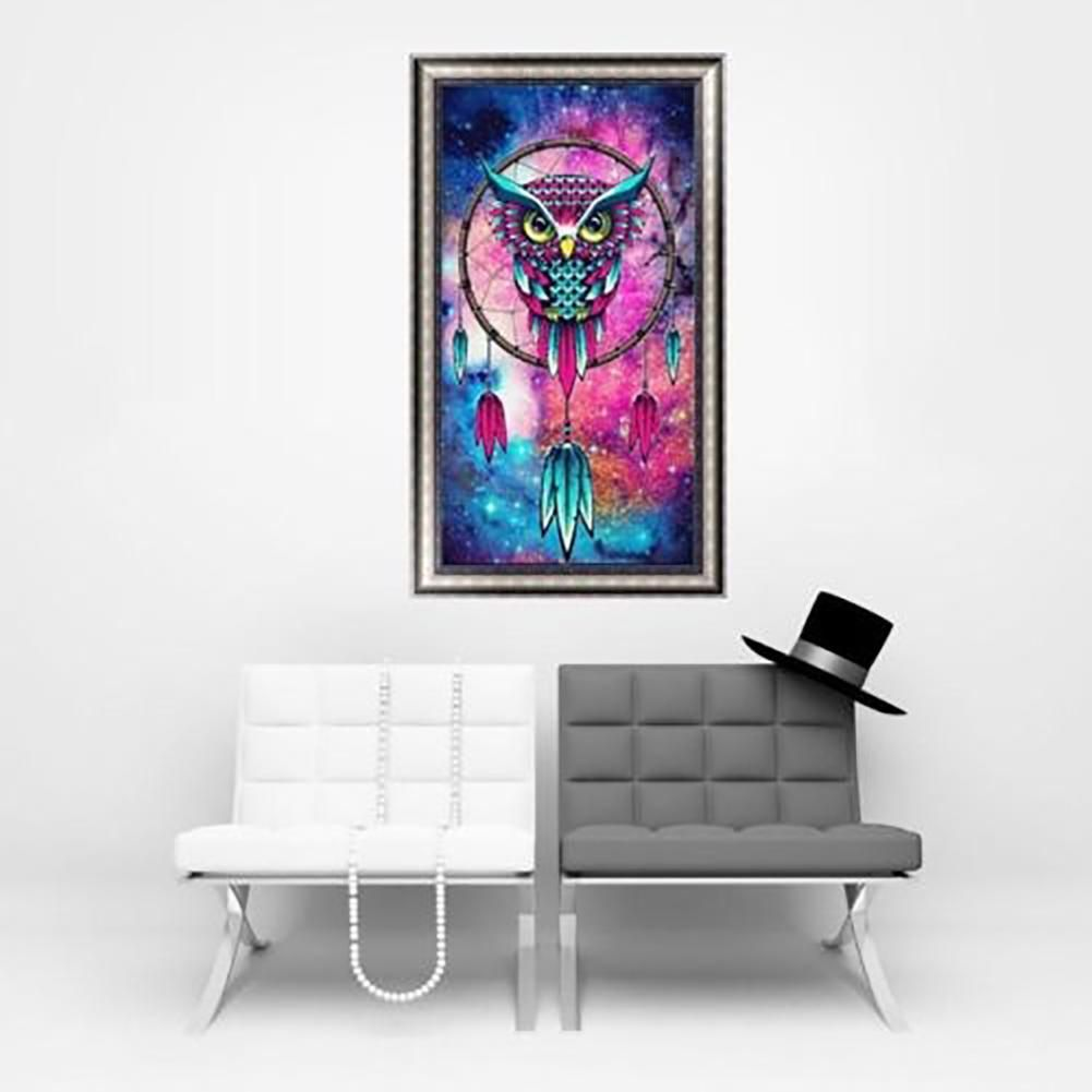Photo of 5D DIY Diamond Embroidery Painting Owl Decorative Home Office Room Wall Decor – as the picture e
