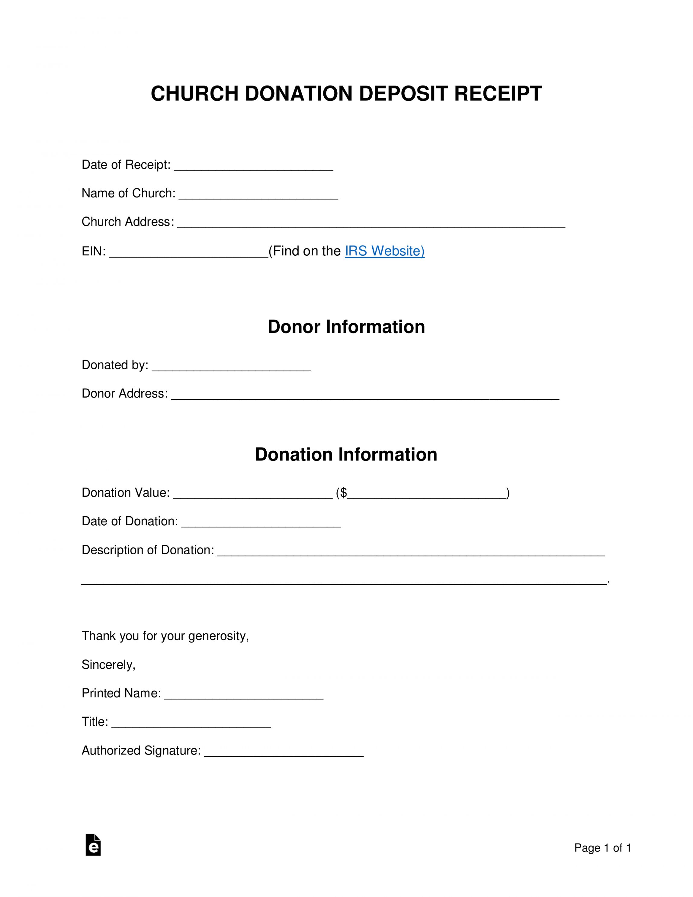 Get Our Sample Of Church Tithing Receipt Template Receipt Template Charitable Contributions Templates