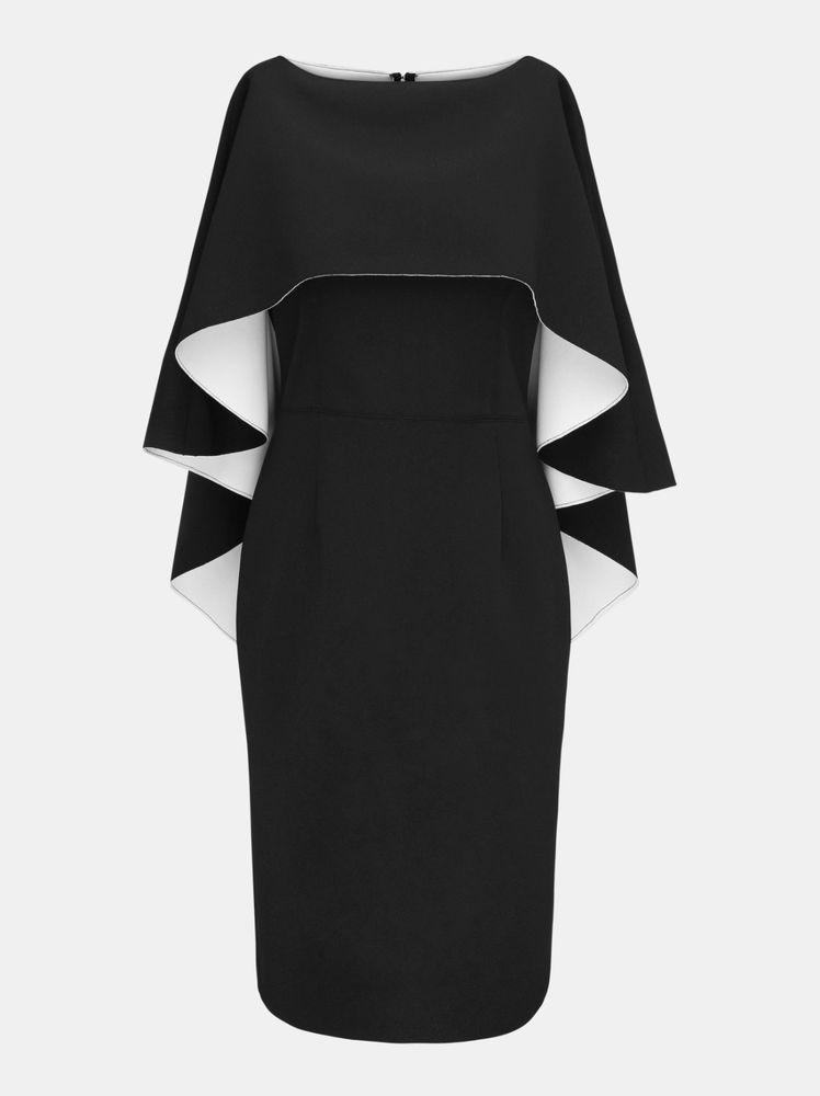 Details zu APART Abendkleid mit Cape Damenkleid Partykleid schwarz ...