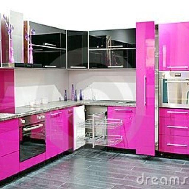 Saw This On Facebook Pink Kitchen Dream Home Pinterest Kitchens
