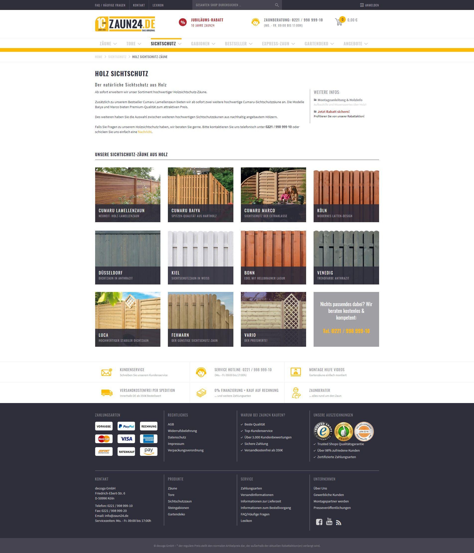 5abcfb958af092 Holz-Sichtschutzzaun online kaufen bei ZAUN24. Schauen Sie doch mal rein! -  ZAUN24