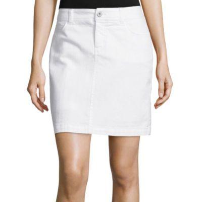 jcp | St. John's Bay® Tie Front Peasant Top or Denim Skirt