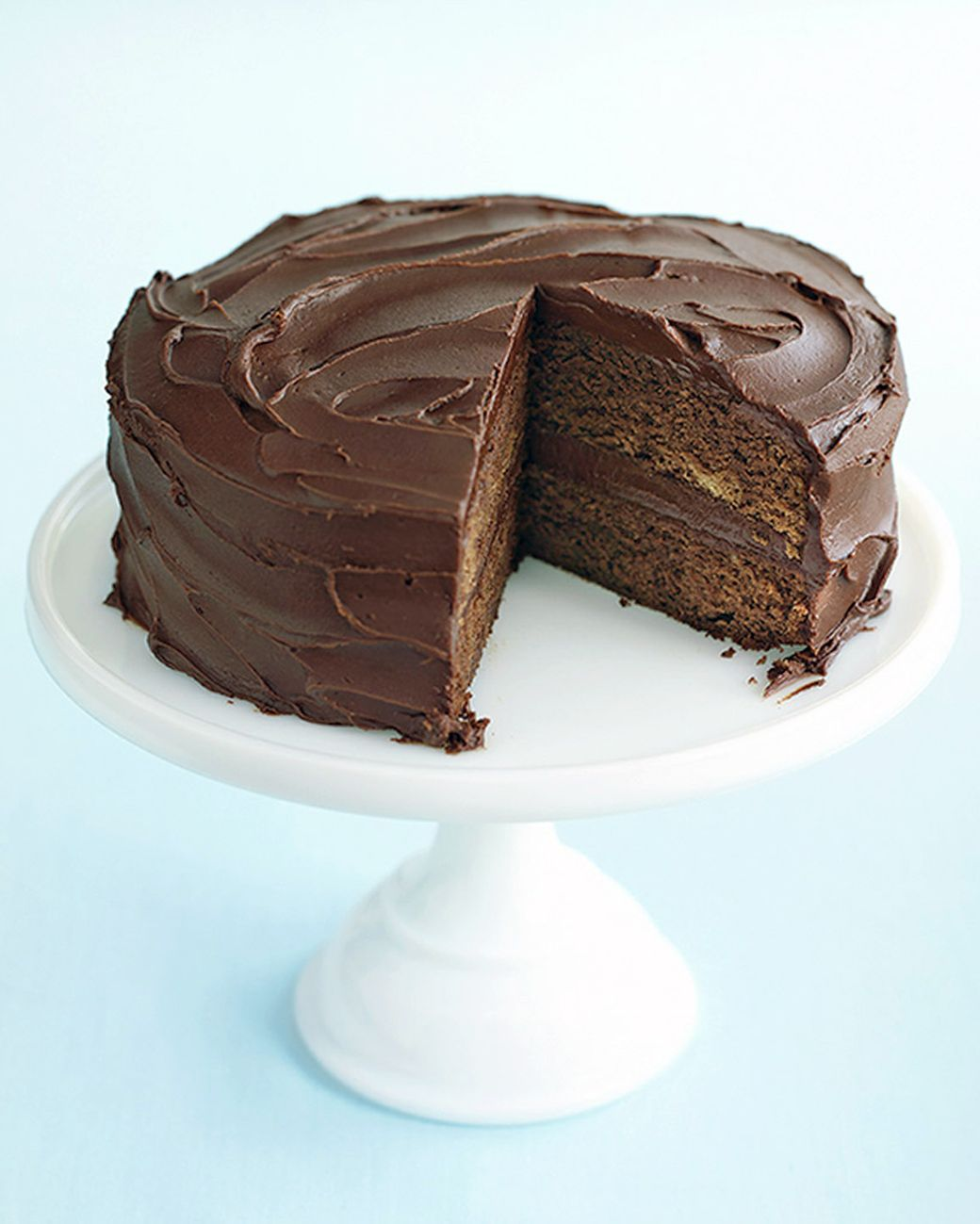This recipe, from Cynthia Avice of Lusby, Maryland, calls for a cup of freshly brewed coffee to be added to the batter. You won't taste it in the finished cake; the coffee is there to intensify the flavor of the chocolate.