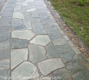 how to build a crushed stone walkway