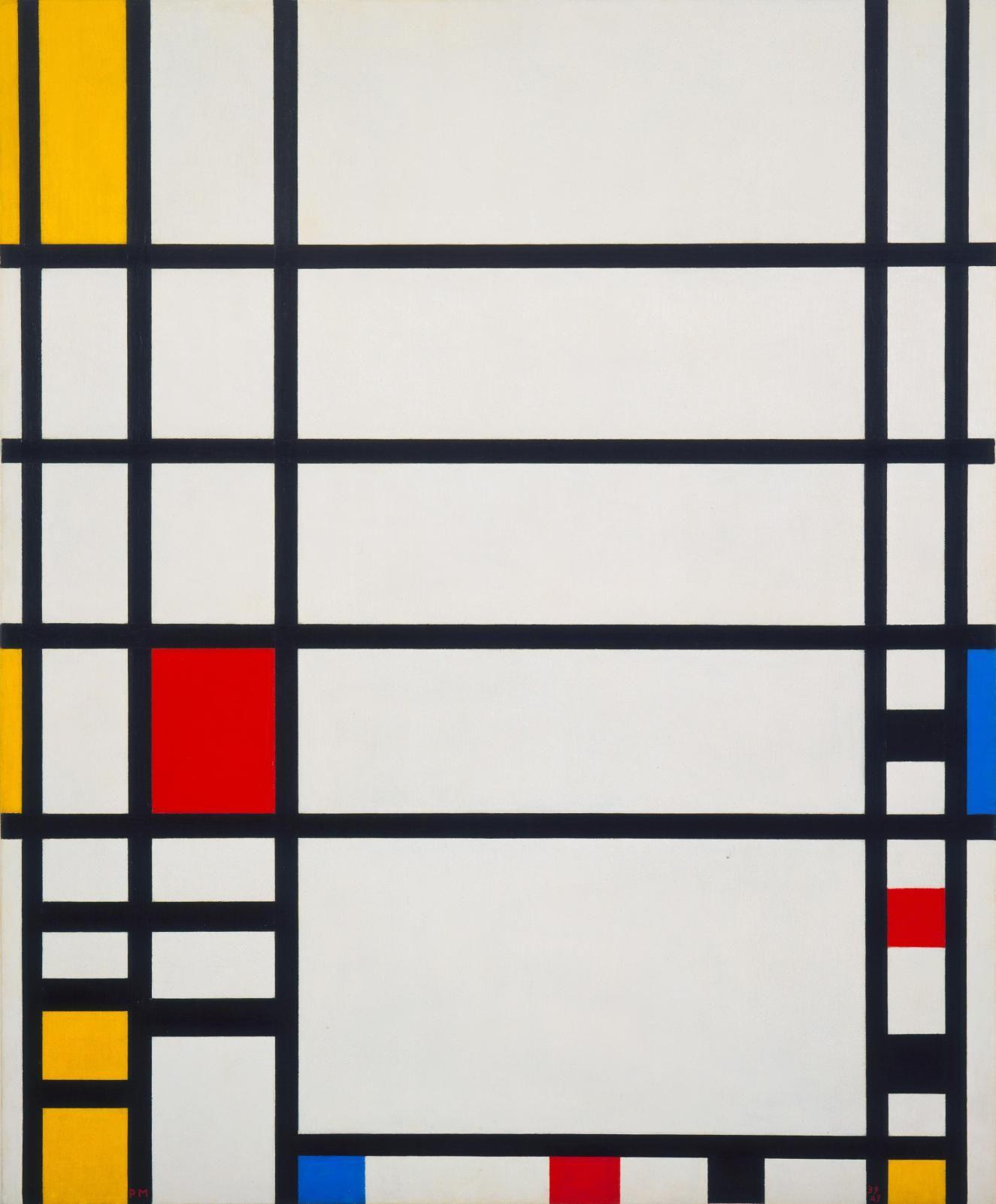 Piet Mondrian, 1872-1944   Trafalgar Square Work Type. Painting Date 1939-43. Material Oil on canvas.