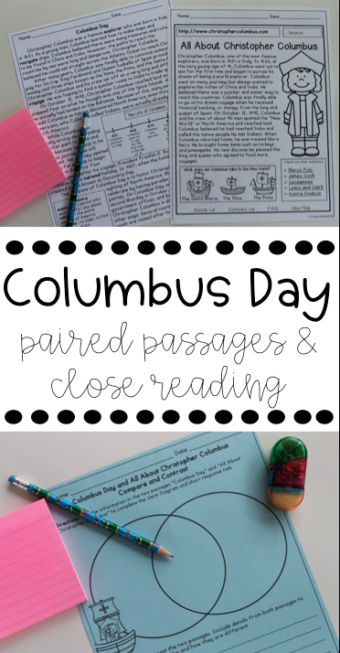 Columbus Day Activities and Ideas! Love this reading