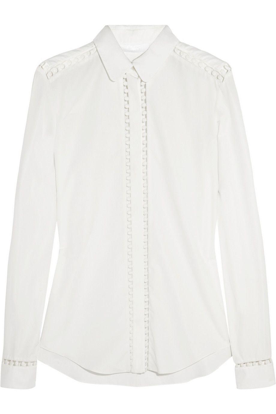 Chloé Embroidered cotton shirt NET-A-PORTER.COM