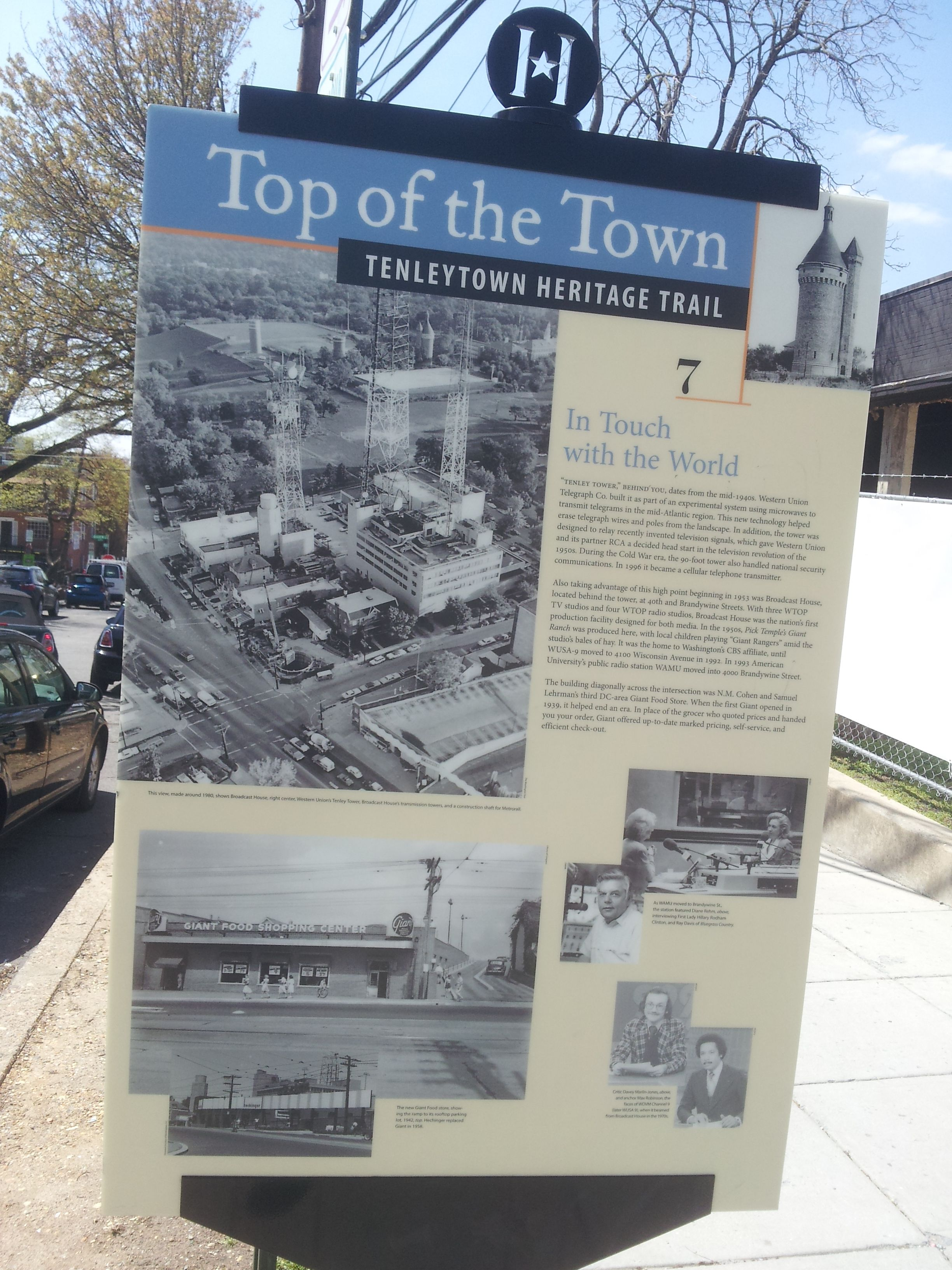 top of the town tenleytown heritage trail brief history of the top of the town tenleytown heritage trail highest point in dc used for