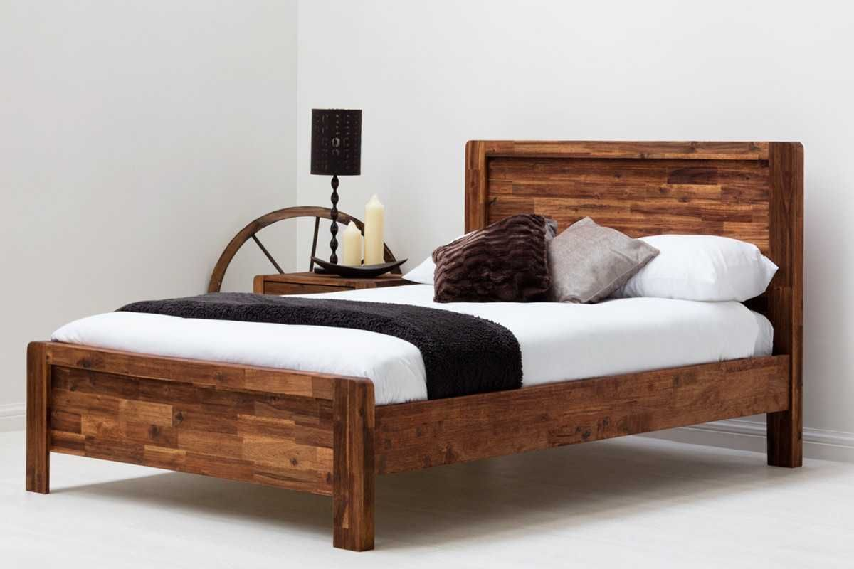Chester Rustic Java Solid Wooden Bed Frame- Double / King Size | Bed ...