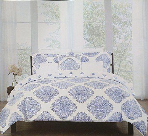 Tahari 5 Piece Reversible Medallion Comforter Set Blue An Https