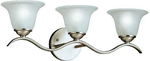 Photo of Kichler 6323NI Dover Bath 3-Light, Brushed Nickel