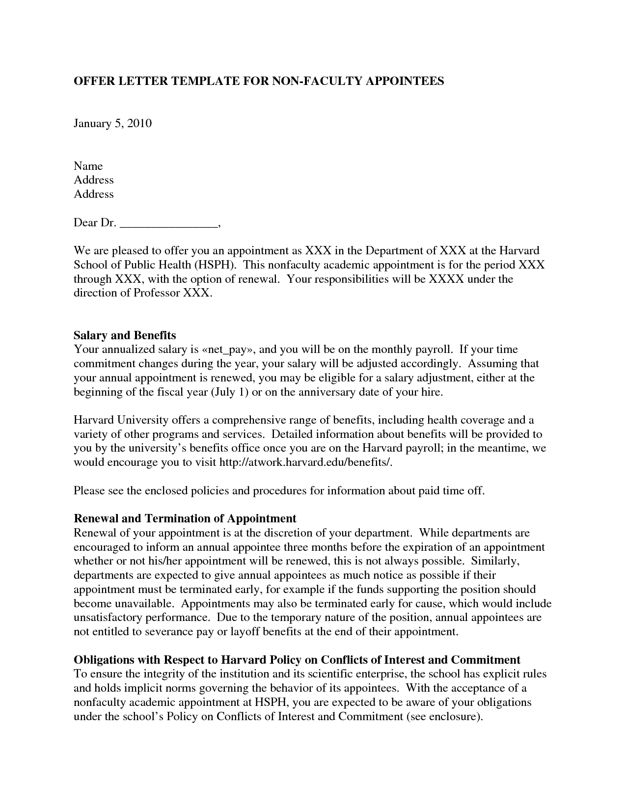 Admission Acceptance Letter Sample letter accepting an offer of – Offer Acceptance Letter