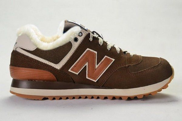 New Balance 574 Womens in 2013 Canteen Pack Brown White Wool Fur Winter  Suede Shoe Cheap New Balance Sale
