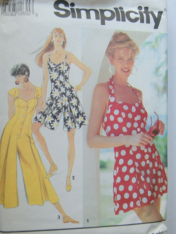 Vintage Romper Sundress Pattern By Simplicity 40 Sewing Patterns Best Sundress Patterns Simplicity
