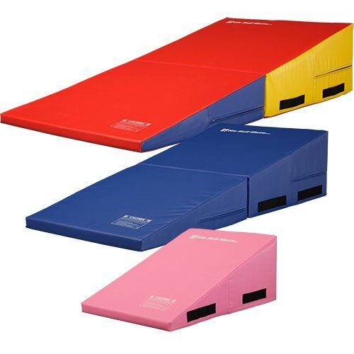we mats gymnastics folding incline cheese wedge skill shape tumbling mat rainbow 60