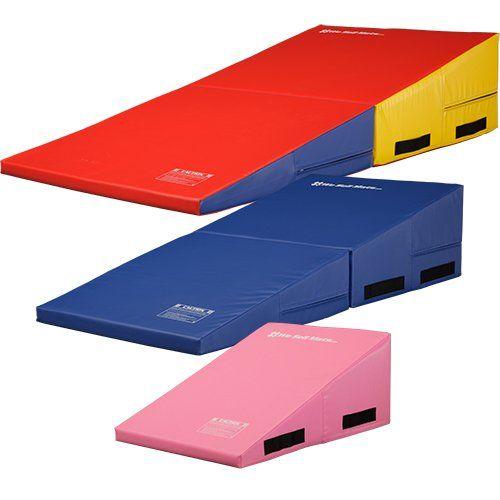 we mats gymnastics folding incline cheese wedge skill shape tumbling mat rainbow 60