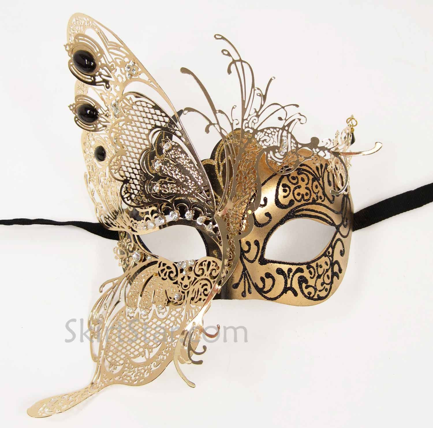 Masquerade mask masquerade mask vine mask metal lace masquerade - Black White And Gold Masks This Beautiful Masquerade Mask1500
