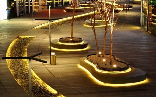 Outdoor led strip lighting garden lighting ideas modern Led strip lighting ideas