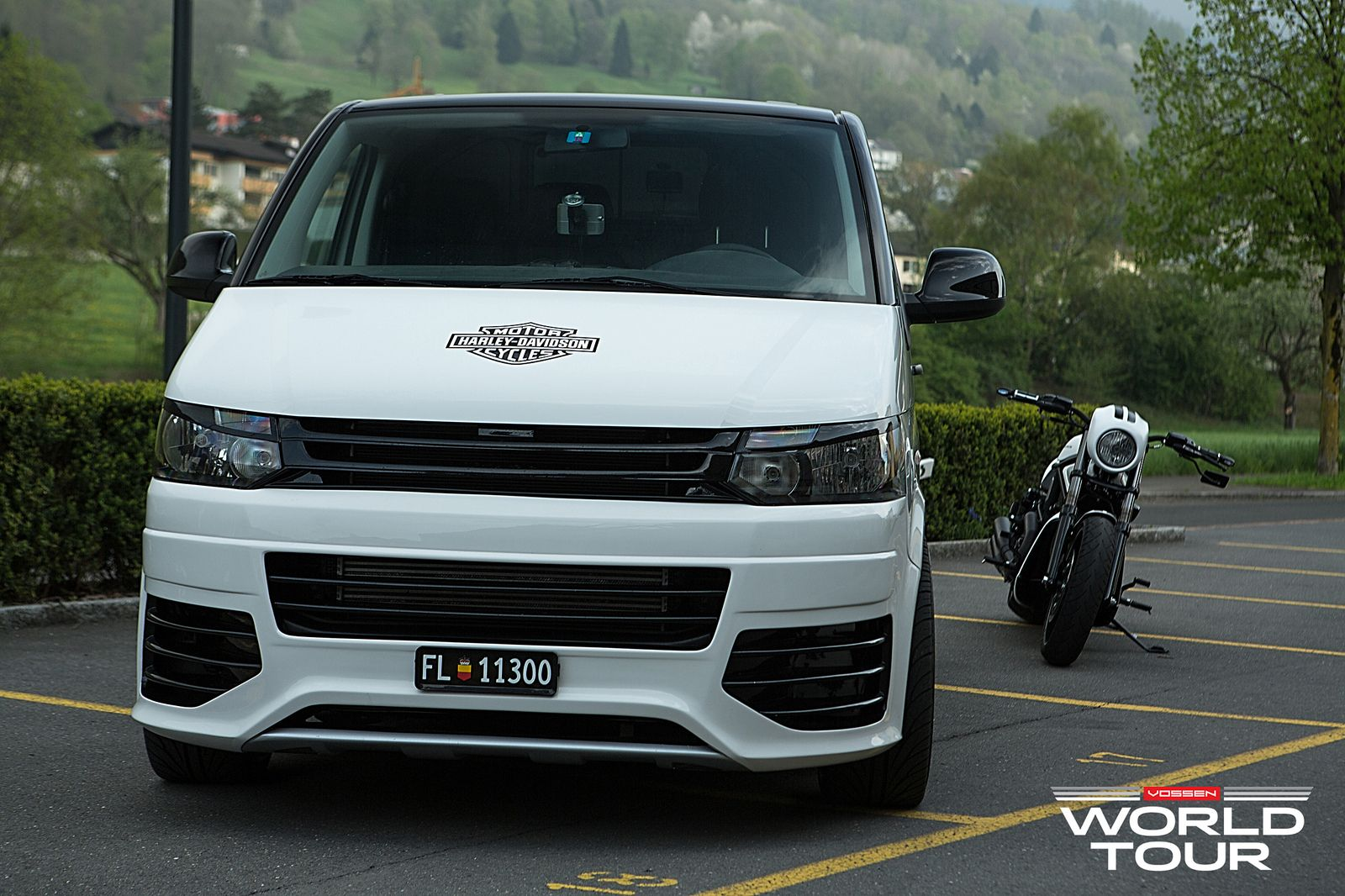 custom t5 vw transporter on vossen wheels. Black Bedroom Furniture Sets. Home Design Ideas