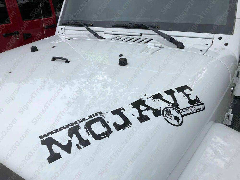 0769 22 Wide Mojave Hood Vinyl Decal Graphic Jeep Wrangler Jl Jlu