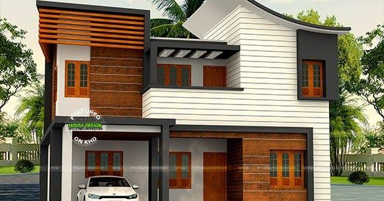 30 Lakh Cost 1900 Sq Ft 4 Bedroom Home Duplex House Design Kerala Houses House Front Design