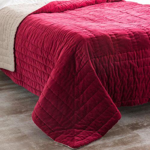 Boutis en velours rouge maisons du monde decoration maison du monde velours et linge de - Boutis maison du monde ...