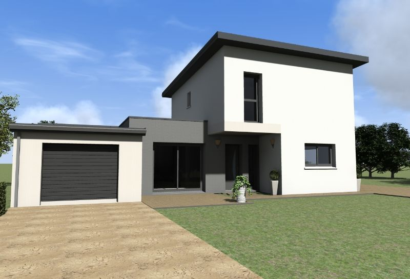 Maison contemporaine tage maisons gab archicad for Maison contemporaine 120m2