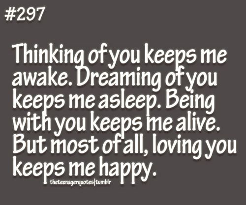Thinking Of You Keeps Me Awake. Dreaming Of You Keeps Me