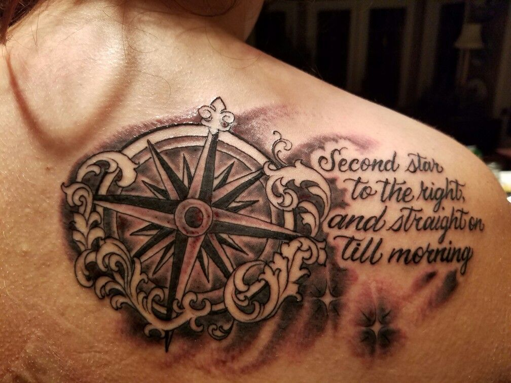 MY Peter pan tattoo compass quote neverland | tattoo ideas ...