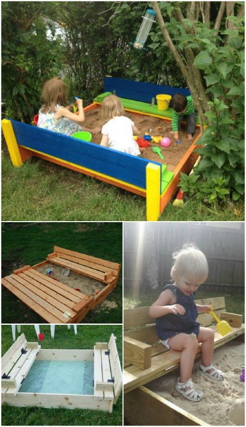 Kids Sandbox closes when not in use! Opens to create seats for the munchkins!