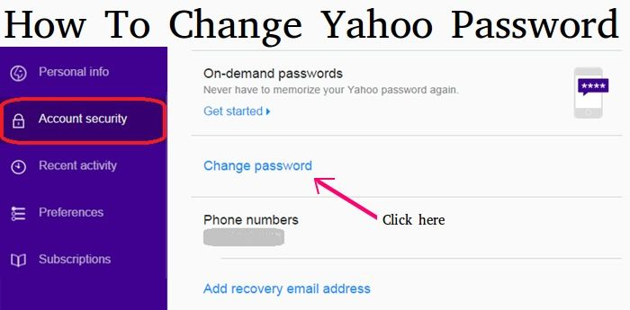 How To Change Yahoo Email Password How To Memorize Things Email Password Change Your Password