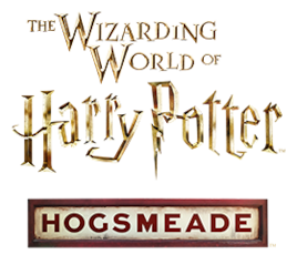 The Logo For The Hogsmeade Area Of The Wizarding World Of Harry Potter An Interactiv Wizarding World Wizarding World Of Harry Potter Universal Studios Florida