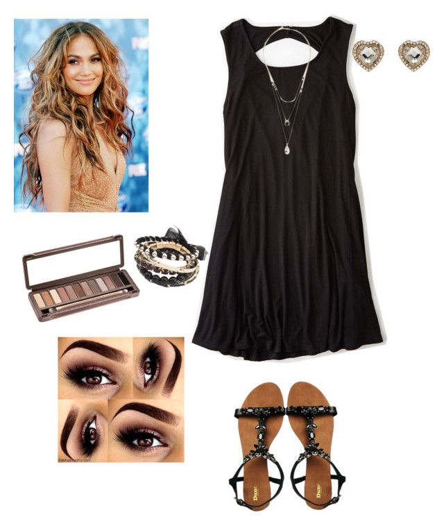 LBD by sweetnothing36 on Polyvore featuring polyvore, fashion, style, American Eagle Outfitters, Dune, Urban Decay, Jennifer Lopez and clothing